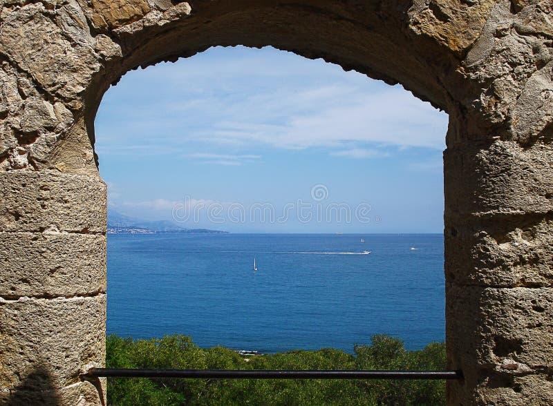 从堡垒Carre曲拱的看法 免版税库存图片