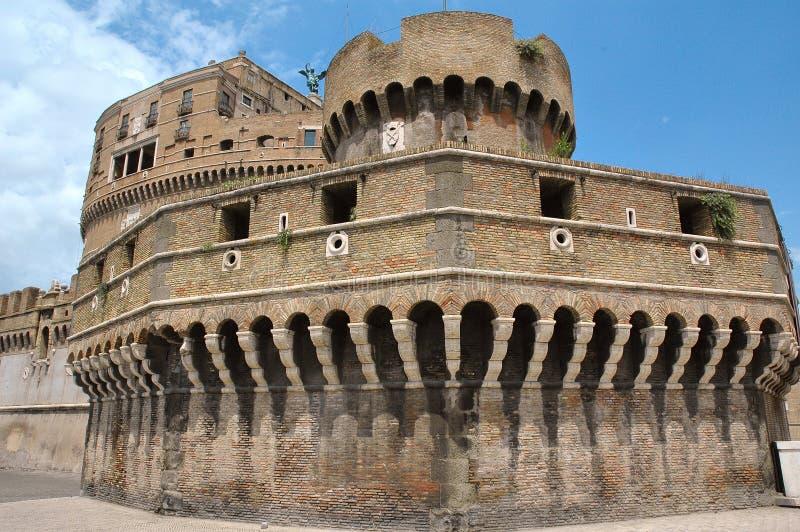 堡垒Castel Sant安吉洛在台伯河河的罗马 免版税图库摄影