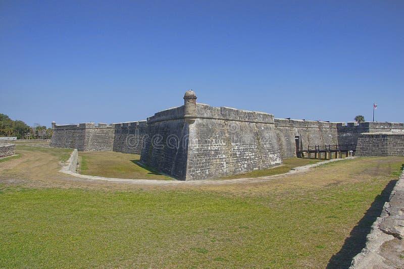 堡垒Castillo, St Augustine,佛罗里达 库存图片