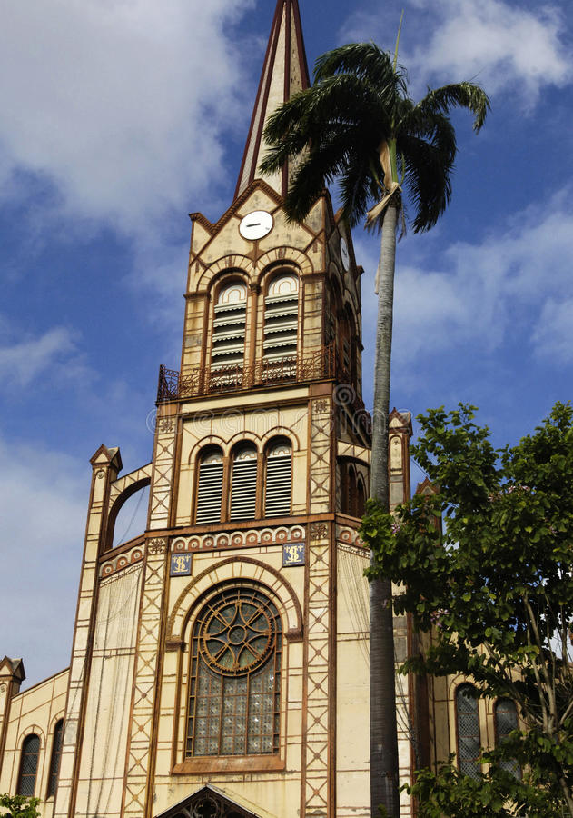 堡垒de法国大教堂在马提尼克岛 库存图片
