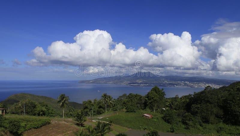 堡垒de法国海湾, La马提尼克岛,安的列斯群岛 免版税库存图片