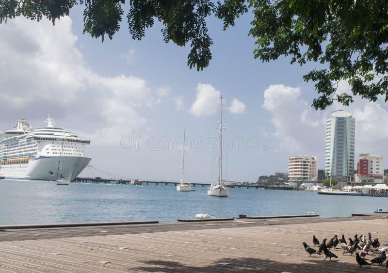堡垒de法国马提尼克岛港口 库存照片