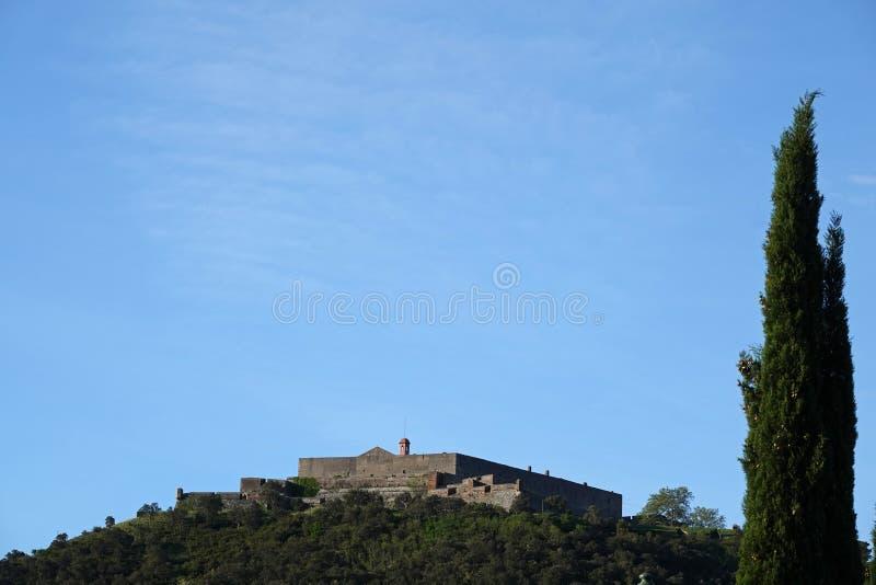 堡垒de贝勒加尔德在勒佩尔蒂在法国 库存照片