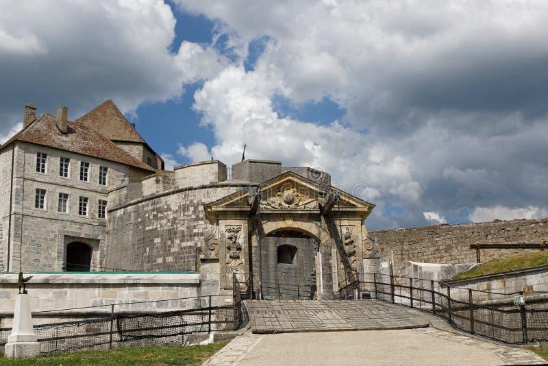 堡垒de Joux入口 库存图片