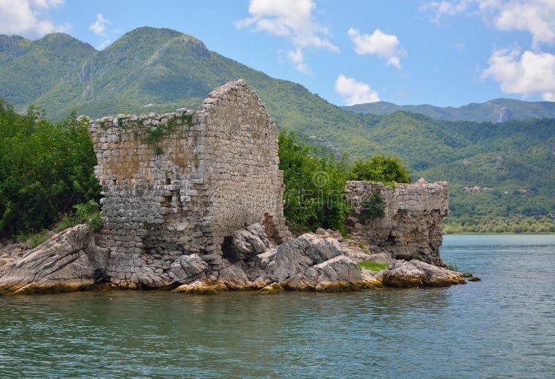 堡垒Grmozur - Skadar湖 库存照片