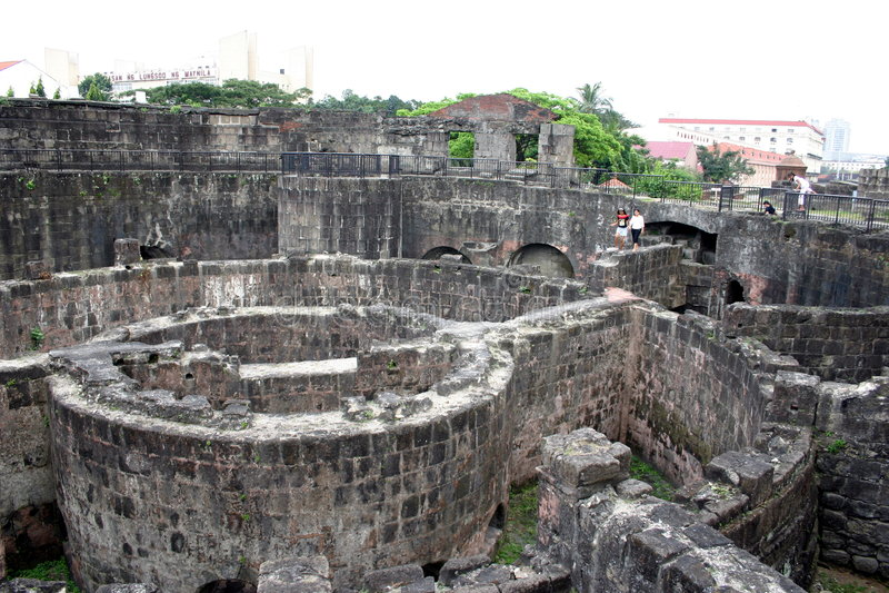 堡垒intramuros马尼拉 图库摄影