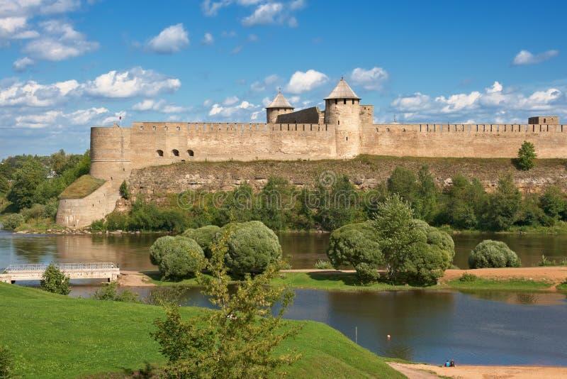 堡垒ivangorod俄国 免版税图库摄影