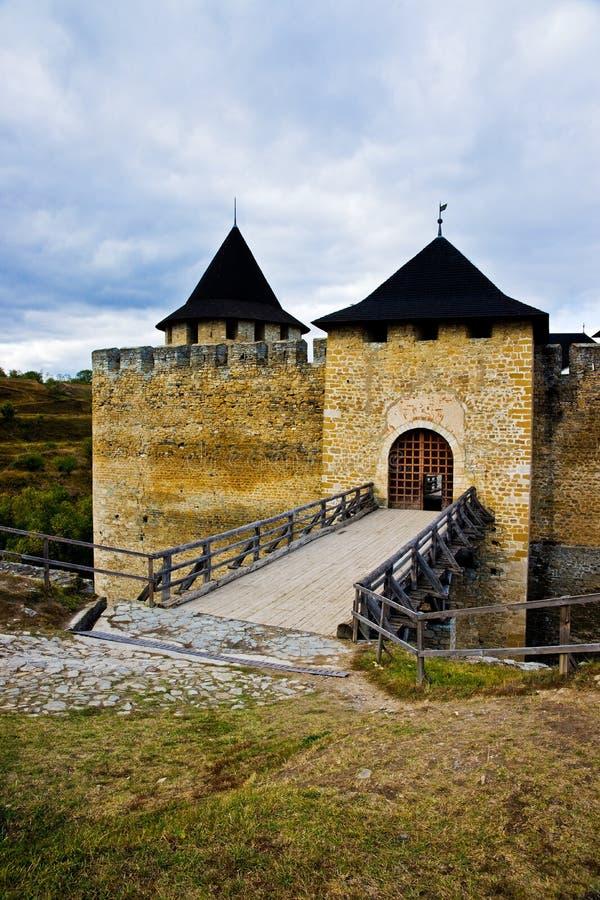 堡垒khotyn乌克兰 库存照片