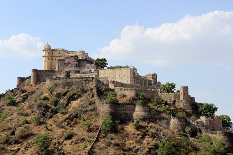 堡垒kumbhalgarh 免版税库存照片