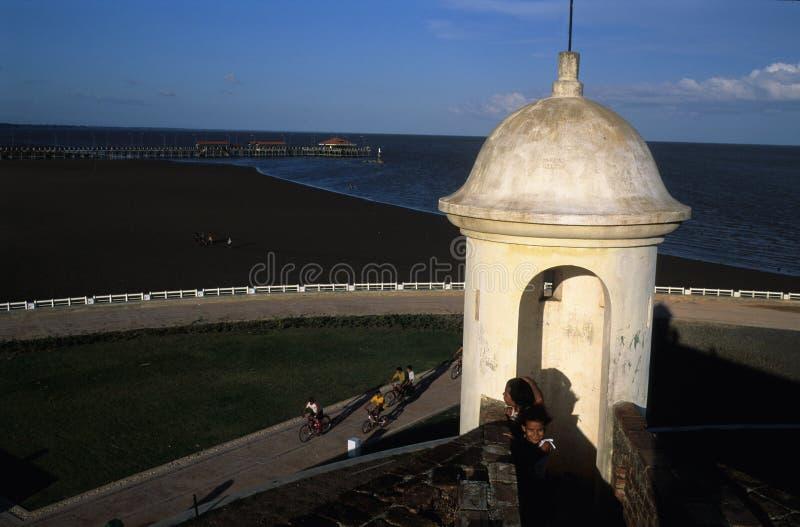 堡垒macapa 库存照片