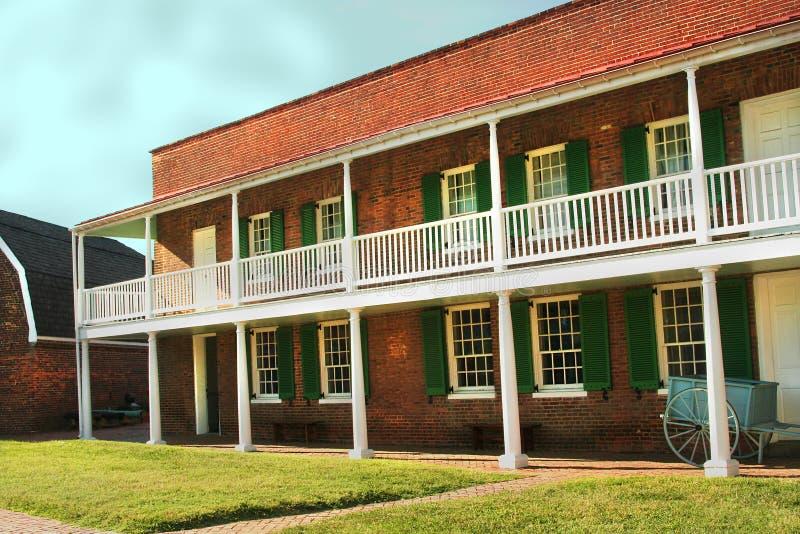 堡垒McHenry营房在巴尔的摩,马里兰 库存照片