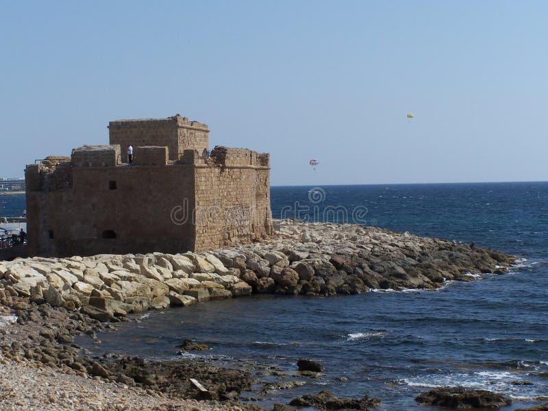 堡垒paphos 免版税库存图片
