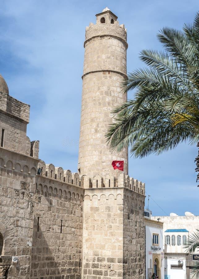 堡垒Ribat的主要观察和信号塔 库存图片