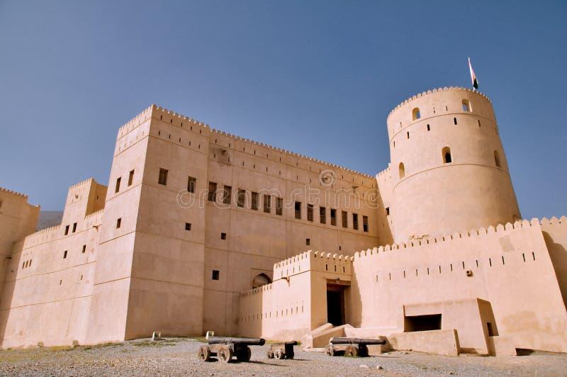 堡垒rustaq 免版税库存图片