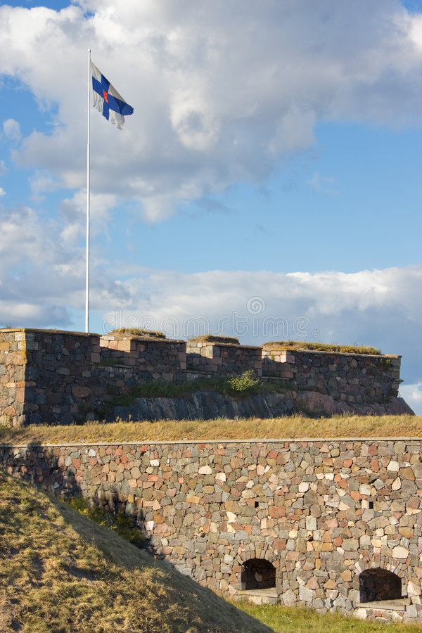 堡垒suomenlinna 库存照片
