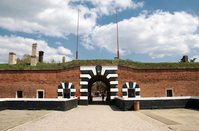 堡垒terezin 图库摄影