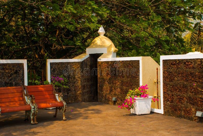 堡垒Tiracol goa 印度 免版税库存照片