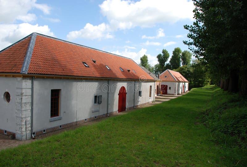 堡垒Wierickerschans。 免版税库存照片