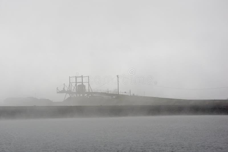 堤坝、船坞、码头和装货舷梯 库存图片