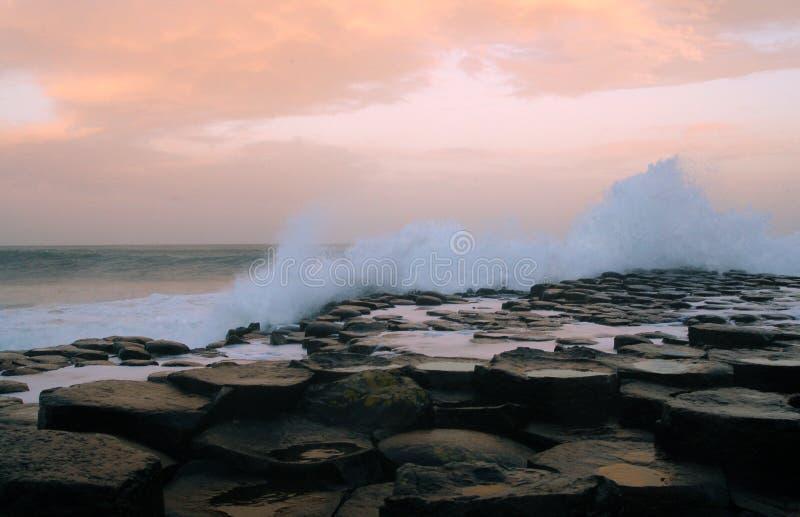 堤道巨人北的爱尔兰 免版税库存图片