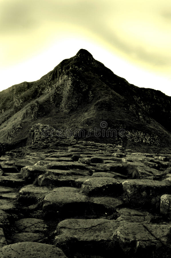 堤道巨人北的爱尔兰 免版税图库摄影