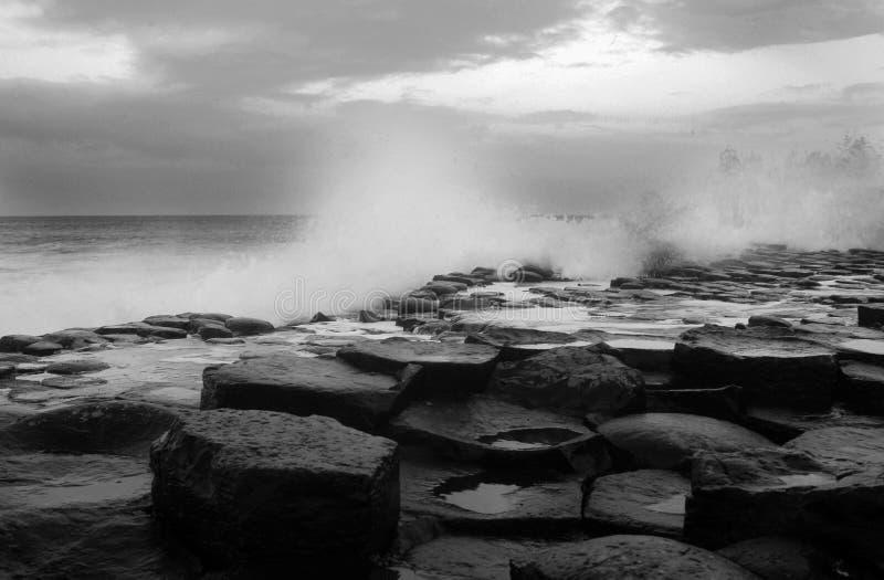 堤道巨人北的爱尔兰 免版税库存照片