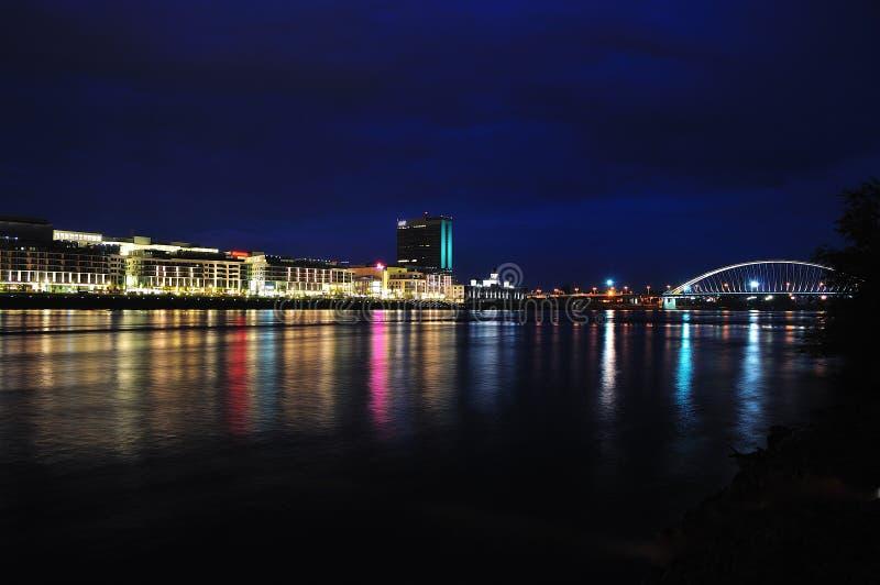 堤防晚上 免版税库存照片