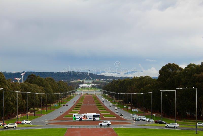 堪培拉战争纪念建筑-澳大利亚的首都 库存照片