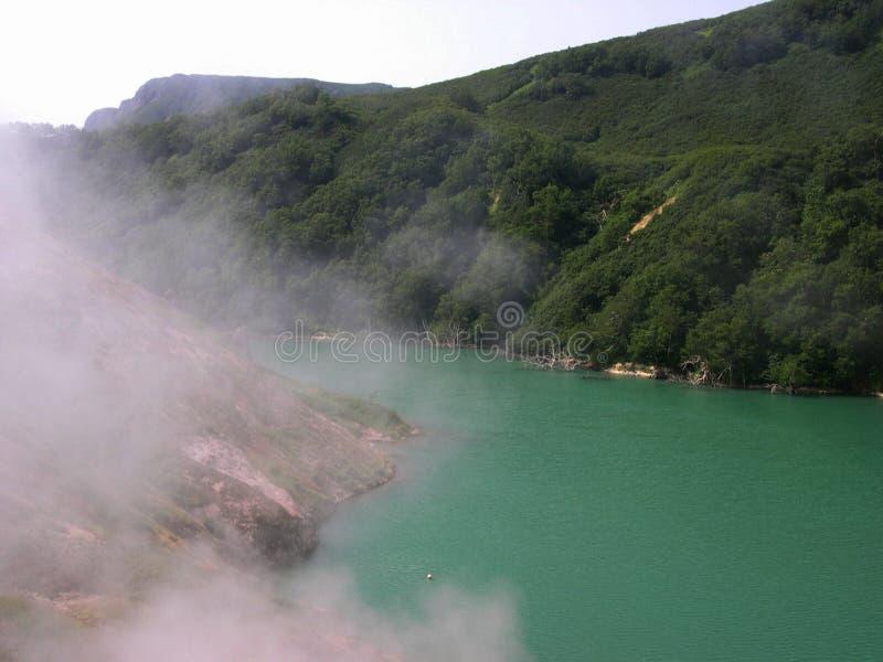堪察加半岛,风景 喷泉谷-堪察加,俄罗斯 库存照片