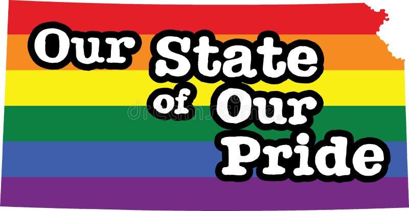 堪萨斯同性恋自豪日传染媒介状态标志 向量例证