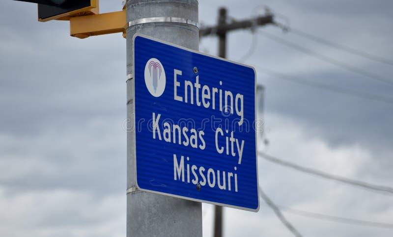 堪萨斯城密苏里KCMO或KC 免版税库存图片