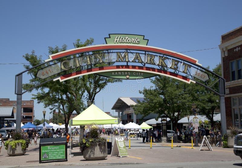 堪萨斯城市场视图密苏里美国 图库摄影