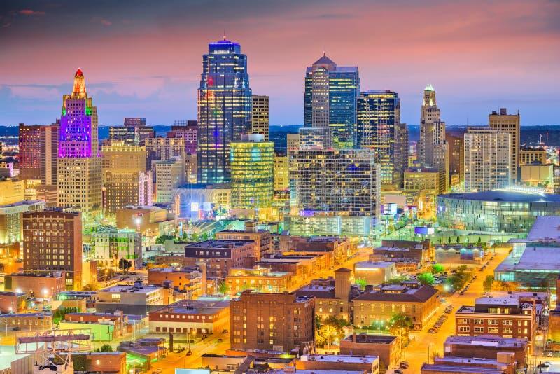堪萨斯城,密苏里,美国街市都市风景 库存图片