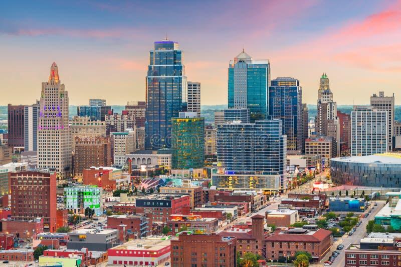 堪萨斯城,密苏里,美国街市都市风景 库存照片