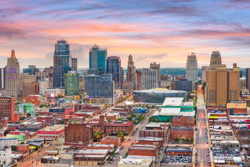 堪萨斯城,密苏里,美国街市都市风景 免版税库存照片