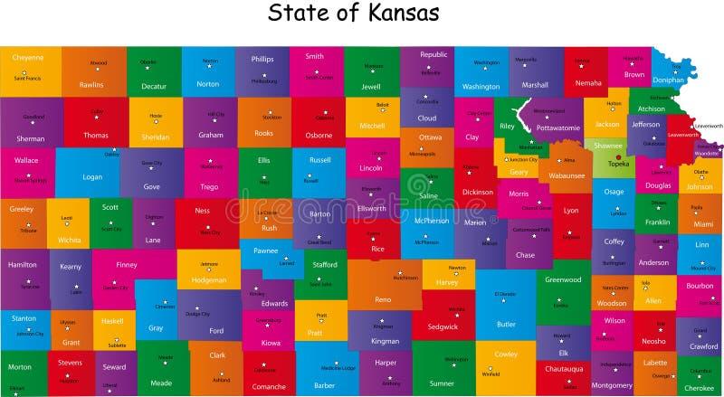 堪萨斯州 向量例证