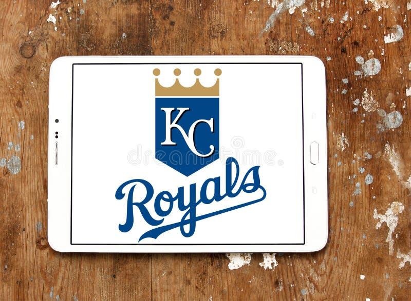 堪萨斯市皇家棒球队商标 免版税图库摄影