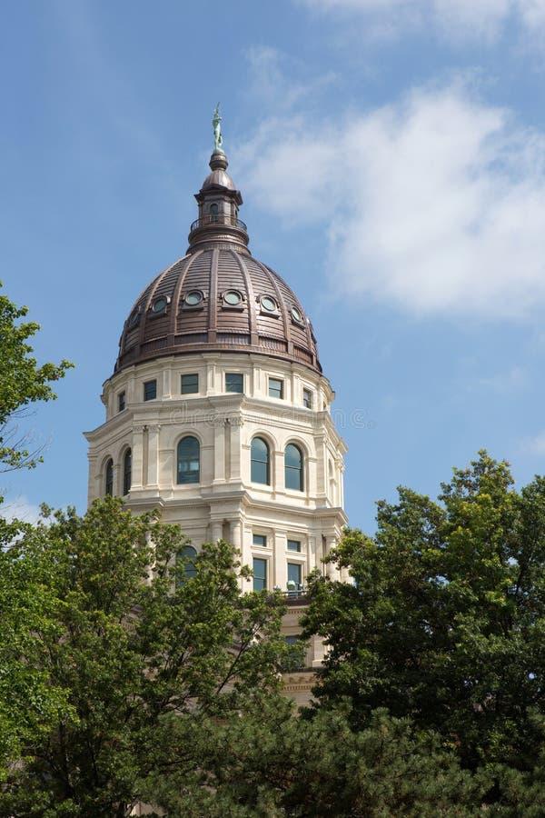 堪萨斯状态国会大厦圆顶 图库摄影