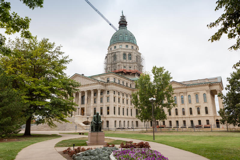 堪萨斯状态国会大厦大厦, Topeka 免版税图库摄影