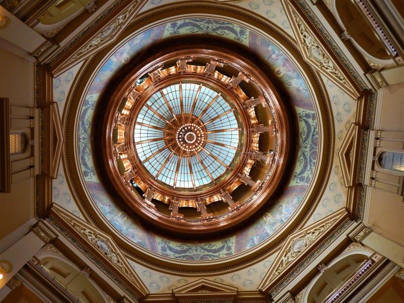 堪萨斯状态国会大厦的圆顶 免版税库存图片
