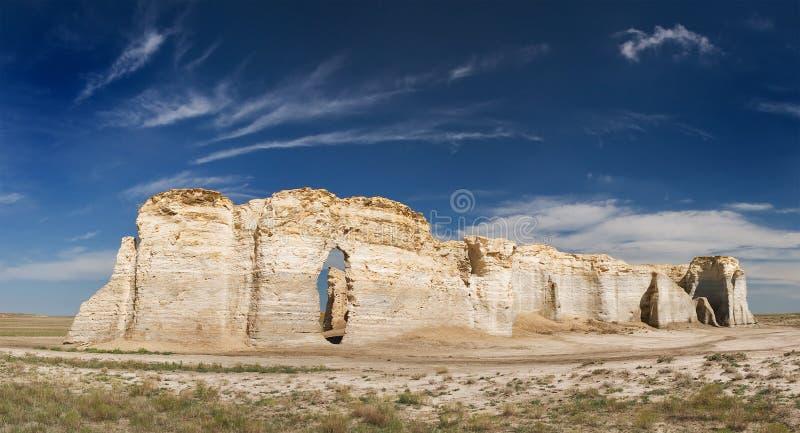 堪萨斯纪念碑岩石 免版税图库摄影