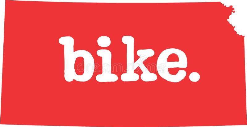 堪萨斯自行车状态向量标志 皇族释放例证