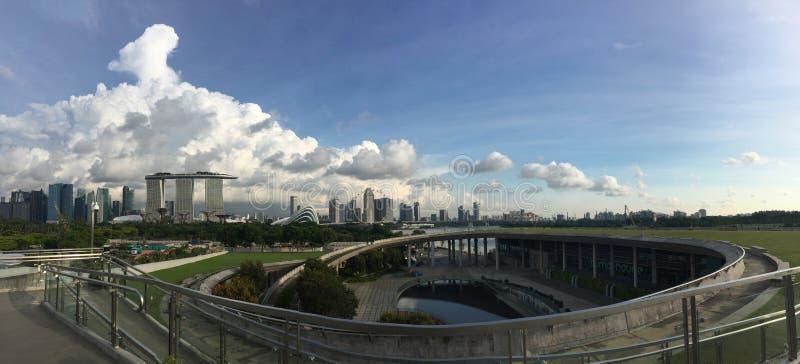 堰坝海滨广场新加坡 免版税图库摄影