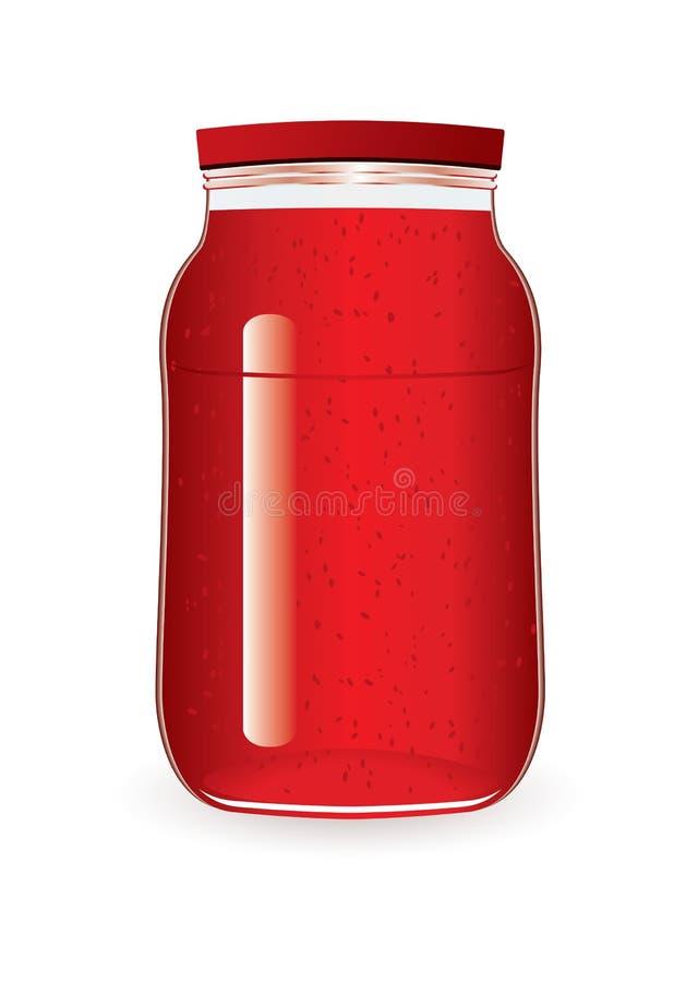 堵塞瓶子草莓 免版税库存照片