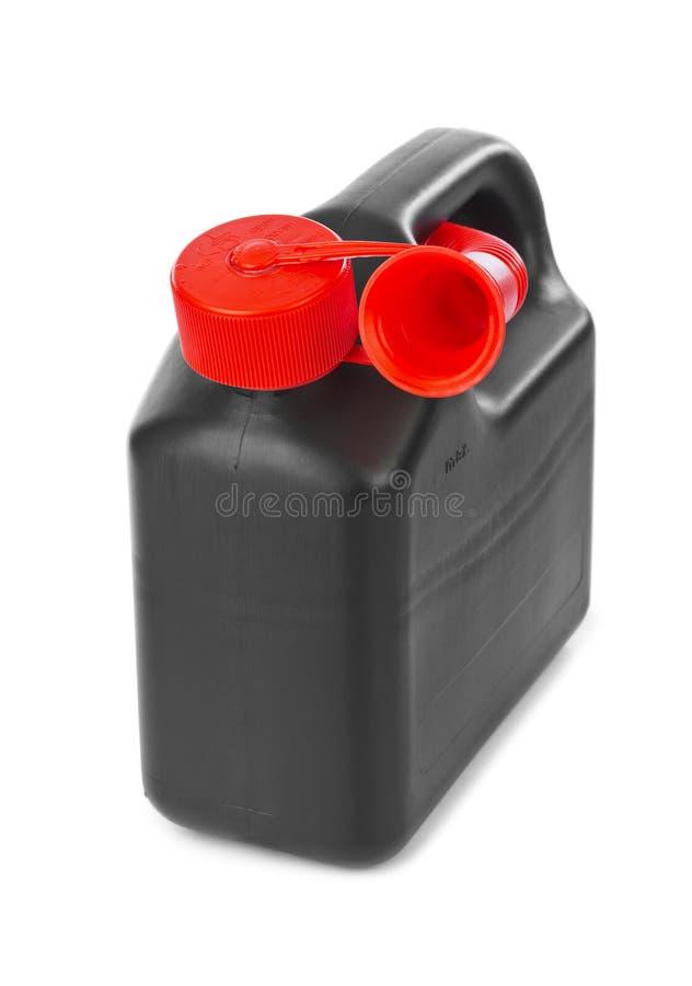 塑料五加仑装之汽油罐 库存照片