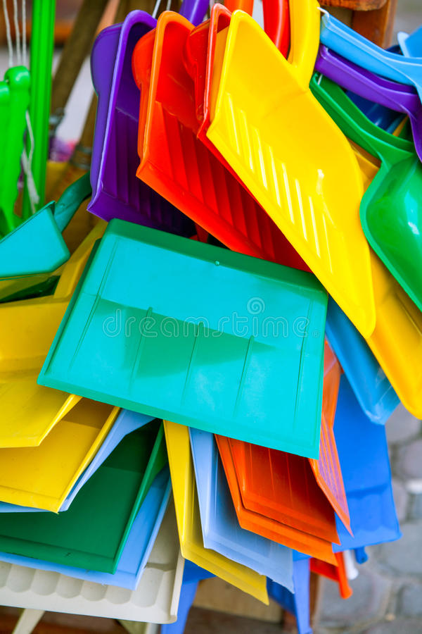 塑料做了家庭公共事业产品 库存照片