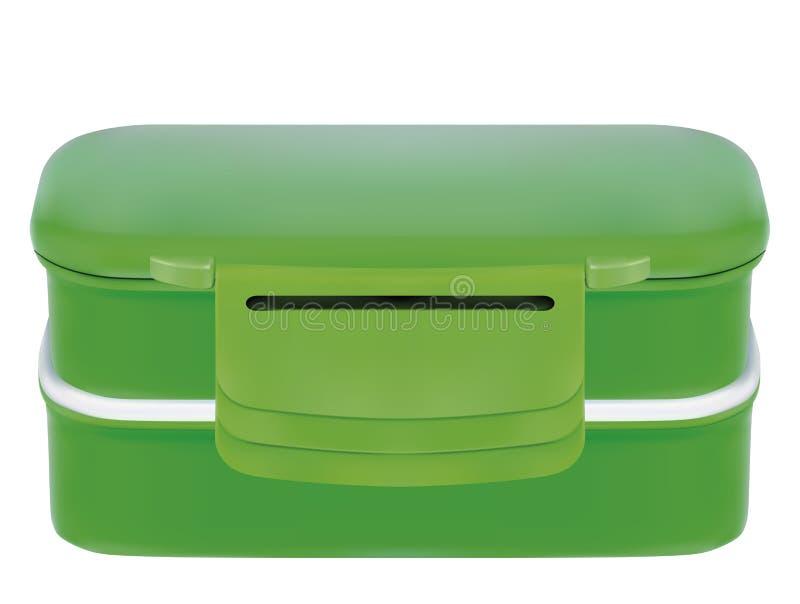 塑料午餐盒 皇族释放例证
