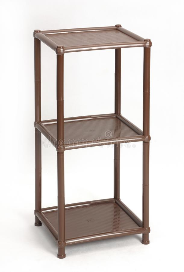 塑料可折叠家具 事的一个方便架子 库存照片