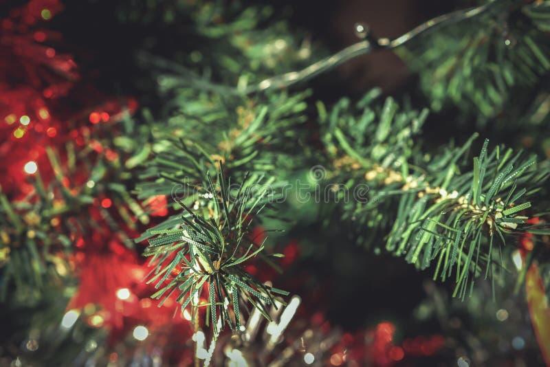 塑料圣诞树 图库摄影