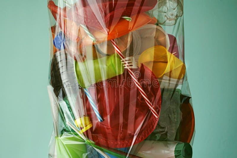 塑料垃圾 塑料回收 免版税库存图片